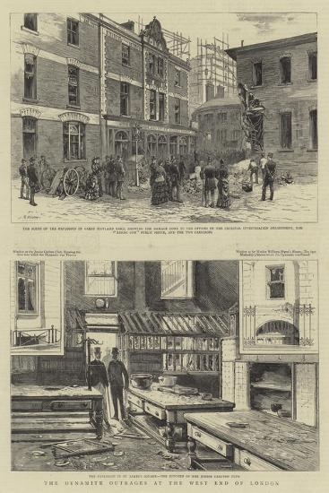 The Dynamite Outrages at the West End of London--Giclee Print