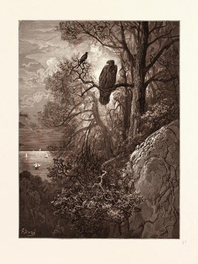 The Eagle and the Magpie-Gustave Dore-Giclee Print