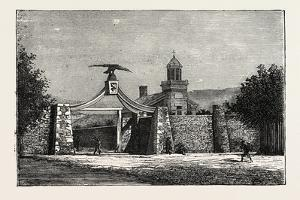The Eagle-Gate of Brigham Young's School, 1870s