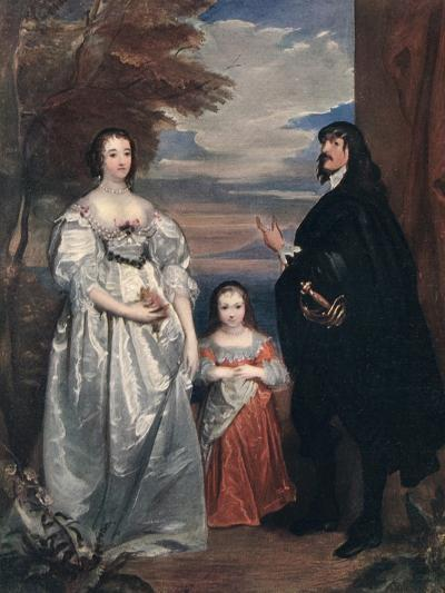 The Earl and Countess of Derby and Child, 1632-1641-Sir Anthony Van Dyck-Giclee Print