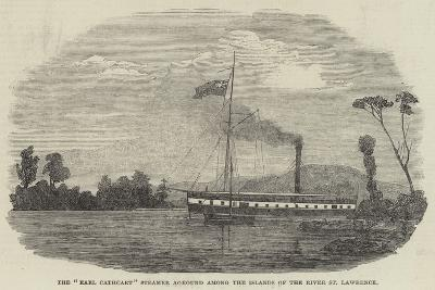 The Earl Cathcart Steamer Aground Among the Islands of the River St Lawrence--Giclee Print