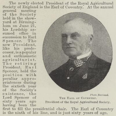 The Earl of Coventry, President of the Royal Agricultural Society--Giclee Print