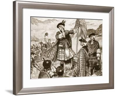 The Earl of Mar Raising the Pretender's Standard--Framed Giclee Print