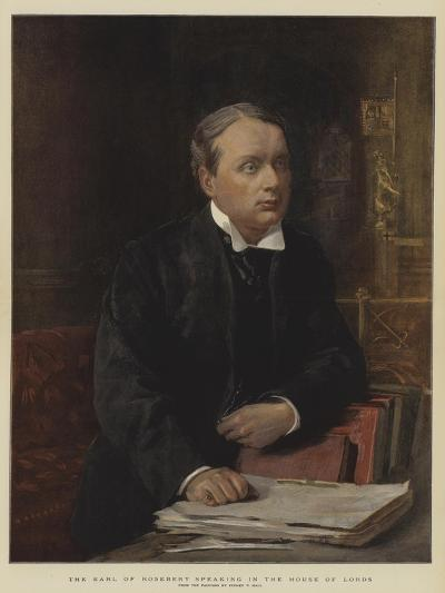 The Earl of Rosebery Speaking in the House of Lords-Sydney Prior Hall-Giclee Print
