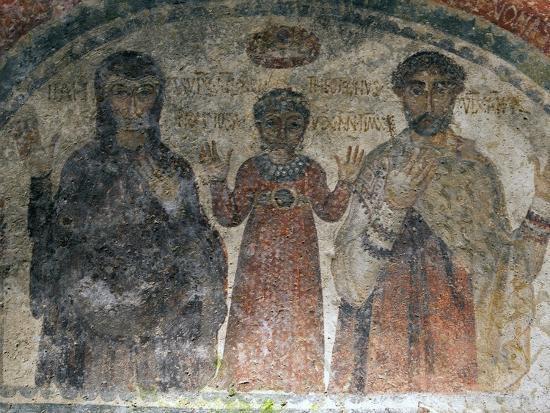 The Earliest Representation of San Gennaro (St Januarius), Catacombs of San Gennaro, Naples, Italy-Oliviero Olivieri-Photographic Print