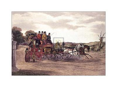 The Early Delivery-William J. Shayer Jnr-Art Print