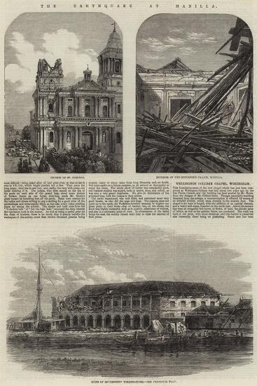 The Earthquake at Manilla--Giclee Print