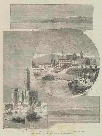 The Earthquake in Spain, Views of Places Where it Was Felt-Charles Auguste Loye-Giclee Print