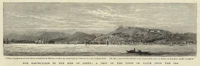 The Earthquake in the Isle of Zante, a View of the Town of Zante from the Sea--Giclee Print