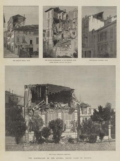 The Earthquake on the Riviera, South Coast of France--Giclee Print