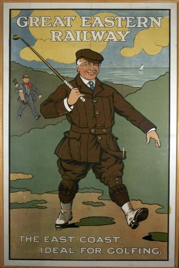 'The East Coast, Ideal for Golfing', Great Eastern Railway poster, early 1920s-John Hassall-Giclee Print