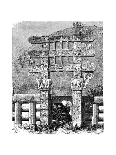 The East Gate of the Sanchi Tope, India, 1895--Giclee Print