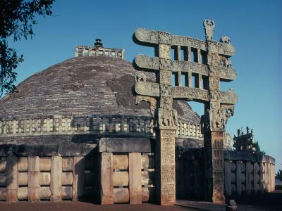 The East Gateway, Great Stupa, Sanchi, Unesco World Heritage Site, Bhopal, India-Adam Woolfitt-Photographic Print