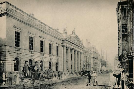 'The East India House from the East', c late 18th century, (1928)-Unknown-Photographic Print