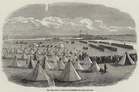 The East Suffolk Artillery Encampment, at Landguard Fort--Giclee Print