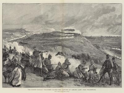 The Easter Monday Volunteer Manoeuvres, Capture of Caesar's Camp, Near Folkestone--Giclee Print