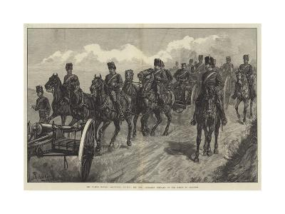 The Easter Monday Volunteer Review, the Honourable Artillery Company on the March to Brighton-Johann Nepomuk Schonberg-Giclee Print