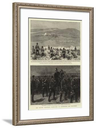 The Easter Volunteer Manoeuvres at Eastbourne and Gravesend--Framed Giclee Print
