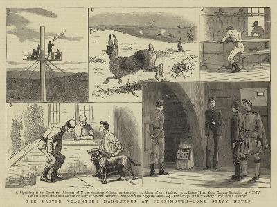 The Easter Volunteer Manoeuvres at Portsmouth, Some Stray Notes--Giclee Print