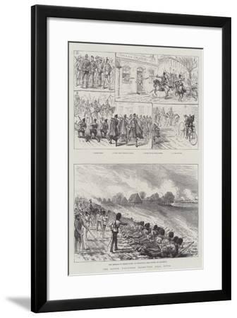 The Easter Volunteer Manoeuvres Near Dover--Framed Giclee Print