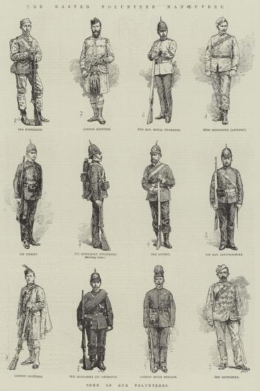 The Easter Volunteer Manoeuvres-Amedee Forestier-Giclee Print