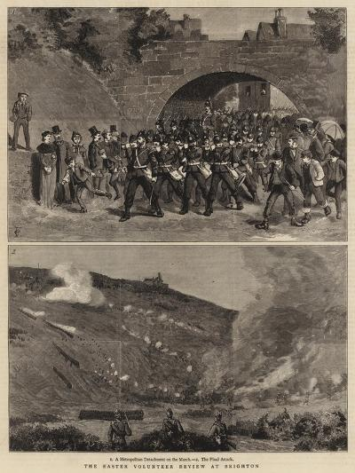 The Easter Volunteer Review at Brighton-Charles Edwin Fripp-Giclee Print
