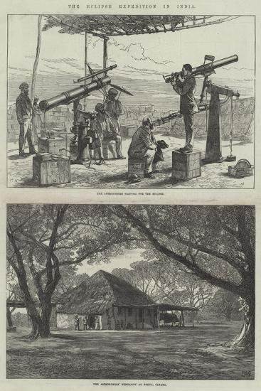 The Eclipse Expedition in India-Charles Robinson-Giclee Print