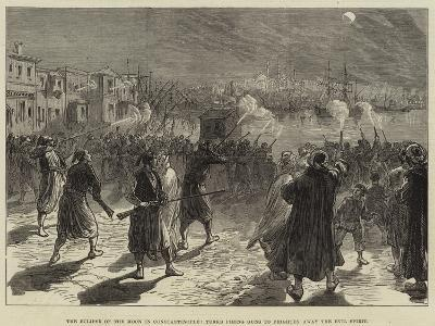 The Eclipse of the Moon in Constantinople, Turks Firing Guns to Frighten Away the Evil Spirit--Giclee Print