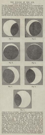 The Eclipse of the Sun, as Seen at Hyeres, France--Giclee Print