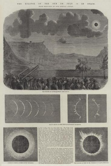 The Eclipse of the Sun on 18 July in Spain--Giclee Print