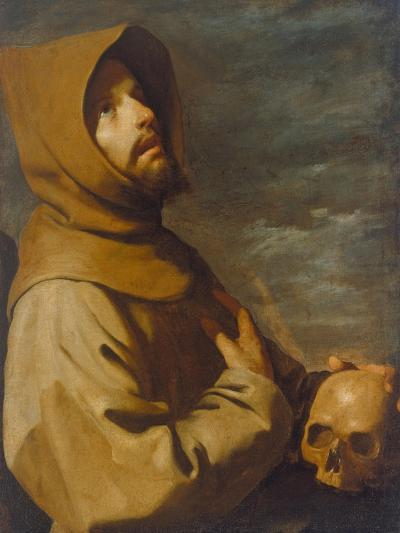 The Ecstasy of St. Francis, about 1660-Francisco de Zurbar?n-Giclee Print