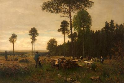 The Edge of a Bavarian Forest, Germany, 1874-Carl Irmer-Giclee Print