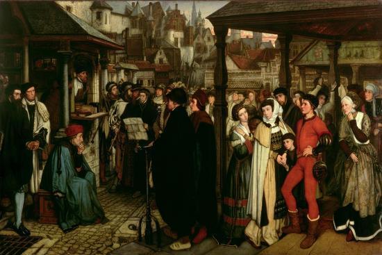 The Edict of Charles V, C.1861-Jan August Hendrik Leys-Giclee Print