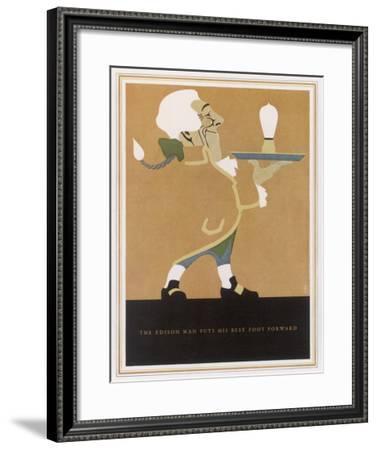 The Edison Lightbulb American Advertisement-F.g. Cooper-Framed Giclee Print