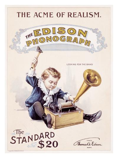 The Edison Standard Phonograph Looking for the Band--Giclee Print