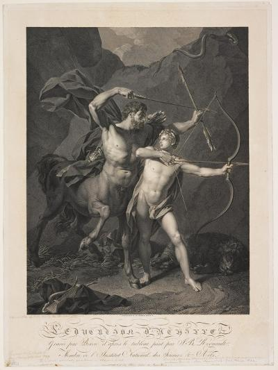 The Education of Achilles by the Centaur Chiron-Charles-Clément Bervic-Giclee Print