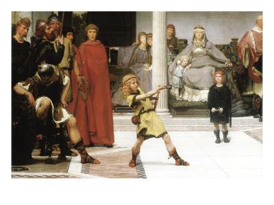 The Education of Children Clovis, Detail-Sir Lawrence Alma-Tadema-Art Print