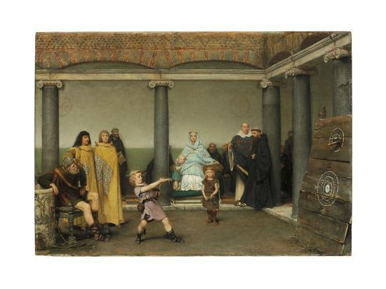 The Education of the Children of Clotilde and Clovis, 1868-Sir Lawrence Alma-Tadema-Giclee Print