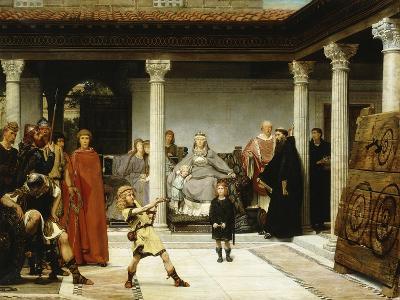 The Education of the Children of Clovis (School of Vengeance; Training of Clotilde's Sons)-Sir Lawrence Alma-Tadema-Giclee Print