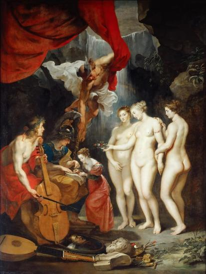 The Education of the Princess. (The Marie De' Medici Cycl)-Peter Paul Rubens-Giclee Print