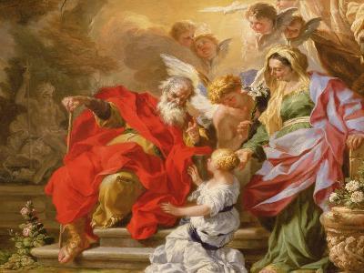 The Education of the Virgin, C.1715-Sebastiano Conca-Giclee Print