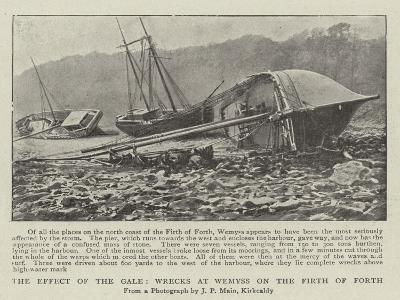 The Effect of the Gale, Wrecks at Wemyss on the Firth of Forth--Giclee Print