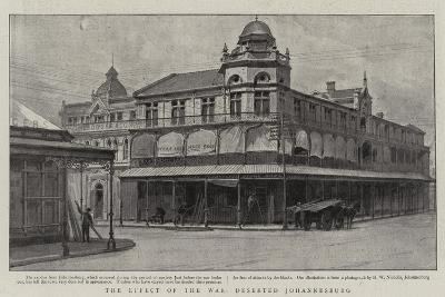 The Effect of the War, Deserted Johannesburg--Giclee Print