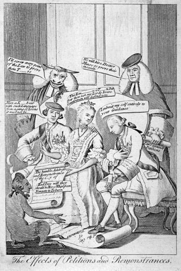 The Effects Of Petitions And Remonstrances 1770 Giclee Print By