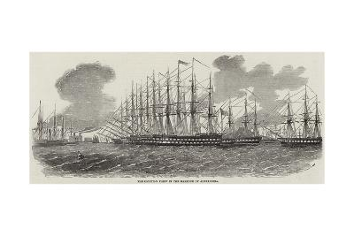 The Egyptian Fleet in the Harbour of Alexandria--Giclee Print