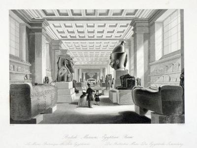 The Egyptian Room, British Museum, Holborn, London, C1840-William Radclyffe-Giclee Print