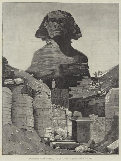 The Egyptian Sphinx at Ghizeh, Near Cairo, with the Excavations in Progress--Giclee Print