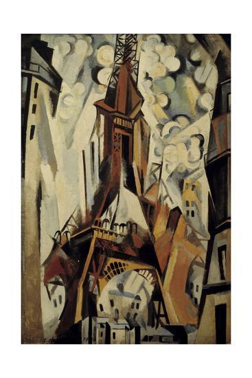 The Eiffel Tower, 1910-Robert Delaunay-Giclee Print