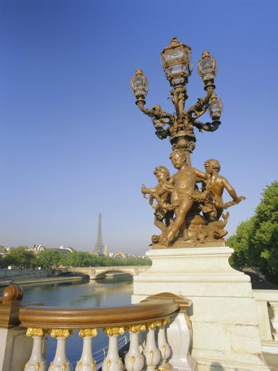 The Eiffel Tower and River Seine from the Pont Alexandre III (Bridge), Paris, France, Europe-Gavin Hellier-Photographic Print