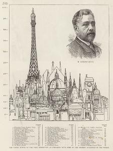 The Eiffel Tower at the Paris Exhibition as Compared with Some of the Highest Buildings in the Worl